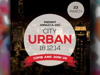 Free Urban City Psd Flyer Templates