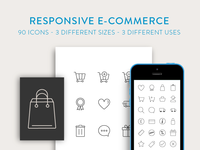 Free Download: Responsive eCommerce Icon Set