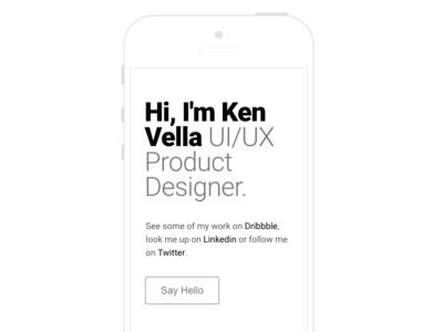 Something New iphone mobile portfolio