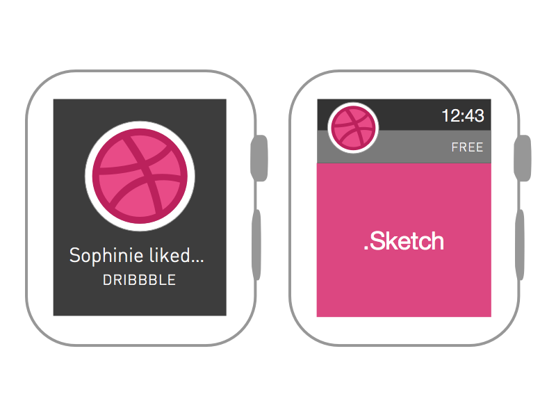 Apple Watch Wireframe [Free .sketch download!] sketch sketch app apple watch wireframe simple free download resource