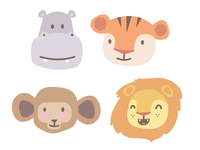Safari Animals for Snapchat GeoFilter