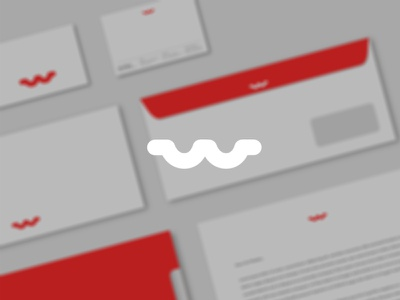 Woles logo woles studio creative agency red