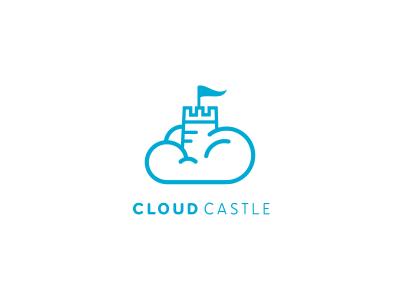 Cloud Castle cloud castle logo sky blue fairytale
