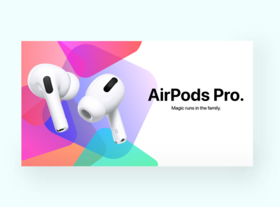 Apple AirPods Pro landing page