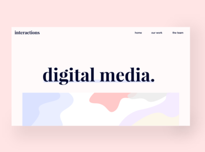 Landing page for a digital media agency