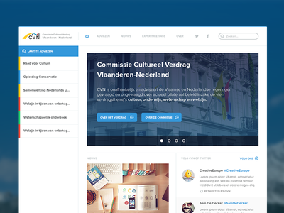 CVN Iteration #1 belgium government vlaanderen nederlands ui web app slider