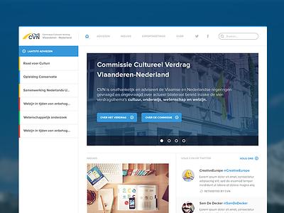 CVN Iteration #1 belgium government vlaanderen nederlands ui web app slider