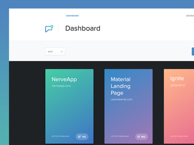 App Dashboard london berlin new york cards overview web app lol yey material dashboard messages