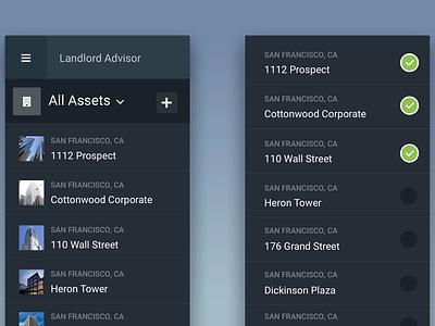 Asset List 🏙 checklist filters check checkmark task select scroll list