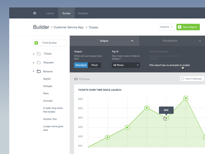 Chart Builder dashboard visualization data charts builder chart