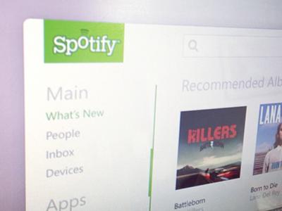 Spotify Metro Style metro windows 8 interface spotify music grid navigation theme ui windows 8 flat minimal