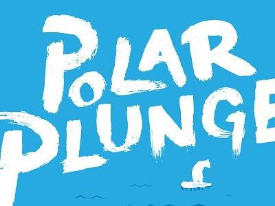 Polar Plunge type winter polar bear