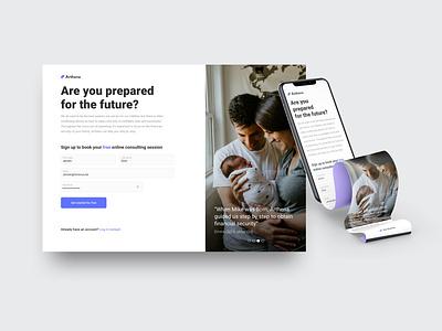 Registration form - Arthena clean branding mobile design future innovation innovux concept register form registration page responsive parenthood website ux ui registration