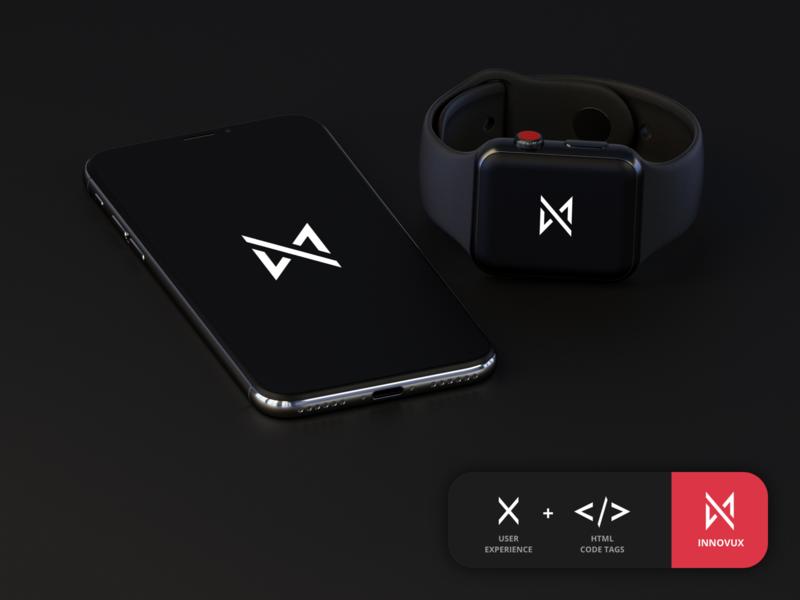 INNOVUX - Logo icon vector mockup simple logomark tags coding user experience ux html branding logo
