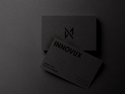 INNOVUX - business cards mock-up premium black ui ux clean logo branding concept design businesscard
