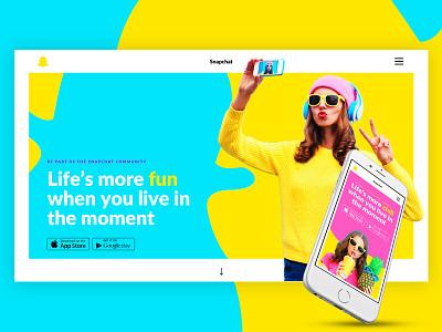 Snapchat Rebranding Concept visual design ui design website desktop mobile webdesign design ui rebranding snapchat