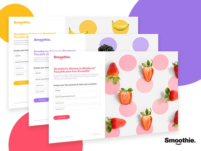 Smoothie Sign in sign in design registration form website branding smoothie