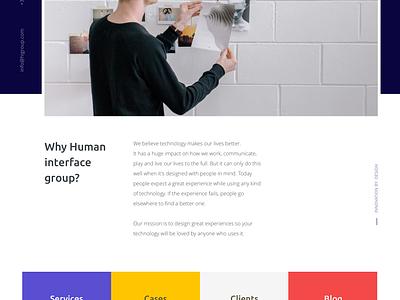 Human Interface Group Rebranding concept people landingspage agency mondrianizm mondrianisme ux ui human interface group rebranding