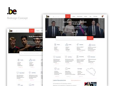 Belgium.be redesign concept website ui concept redesign belgium