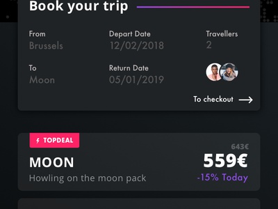 SPACED - To space and back, safely moon dark challenge spacedchallenge mobile app design ux ui