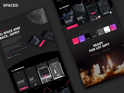 SPACED - caseboard 🚀 concept ux ui moon case mobile app dark space spacedchallenge