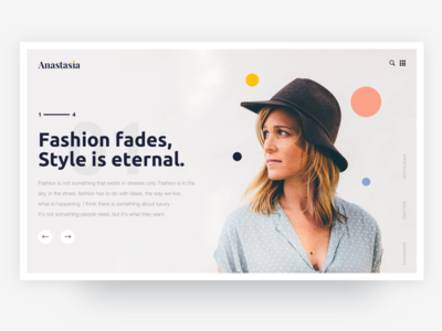 Anastasia - Fashion store 👗 brand clothes ui simple clean website store fashion anastasia