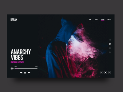Urban - Rapper website 🎧 tracks music dark website dj rapper urban ui