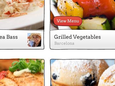 Tadaku - Menu listings tadaku food cook button rough lines vegetable meal menu illustration