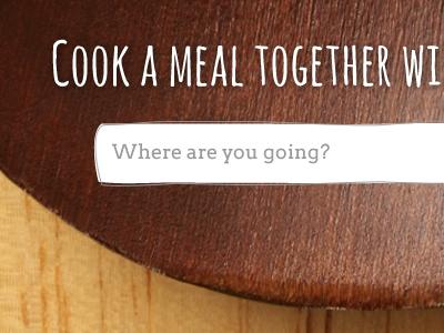 Tadaku - Top Page [Attachment] tadaku food cook text field button rough lines meal menu illustration search