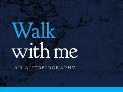 'Walk with me' Book Cover [Attachments] book cover print blue white photo type typography pavement crack goudy