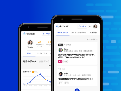 Activaid - Service Design white blue android app app design application medical healthcare designer デザイナー 東京 japan tokyo ux ui pwa android app digital product