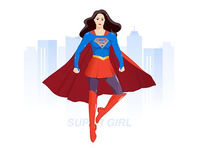 Super Girl 漫威 女超人 超女 mcu superman super girl illustration design