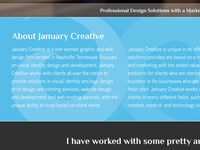January Creative 2013 New Website Sneak Peek