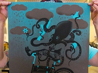 Octopus Silk Screen