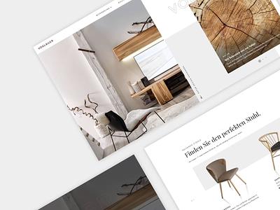 Exclusive Furniture Brand / Digital Branding & Experience voglauer wood interactive clean branding typography design furniture website modern ux ui furniture digital inspiration animation