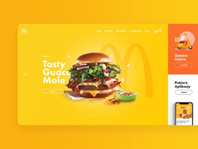 McDonald's Redesign Concept website mcdonalds burger food page landing layout design web ui ux subtl visuality