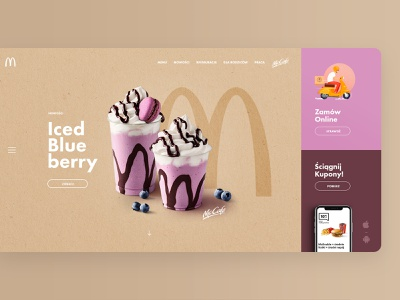 McDonald's Redesign Concept mcdonalds burger food concept app page landing website web ui ux subtl visuality