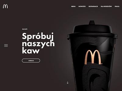 McDonald's Redesign Concept page landing burger food mcdonalds layout design web ui ux subtl visuality