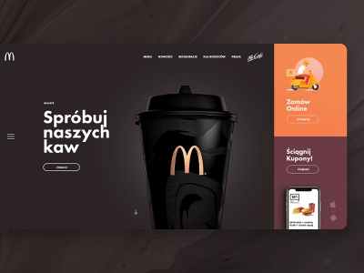McDonald's Redesign Concept page landing burger food mcdonalds layout design web ui ux subtl visuality