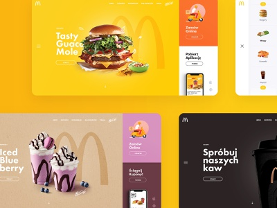 McDonald's Redesign Concept app layout design web ui ux concept redesign mcdonalds subtl visuality