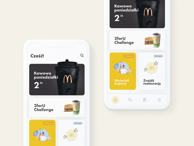 McDonald's Redesign Concept simple clean concept food redesign mcdonalds app mobile ui ux subtl visuality