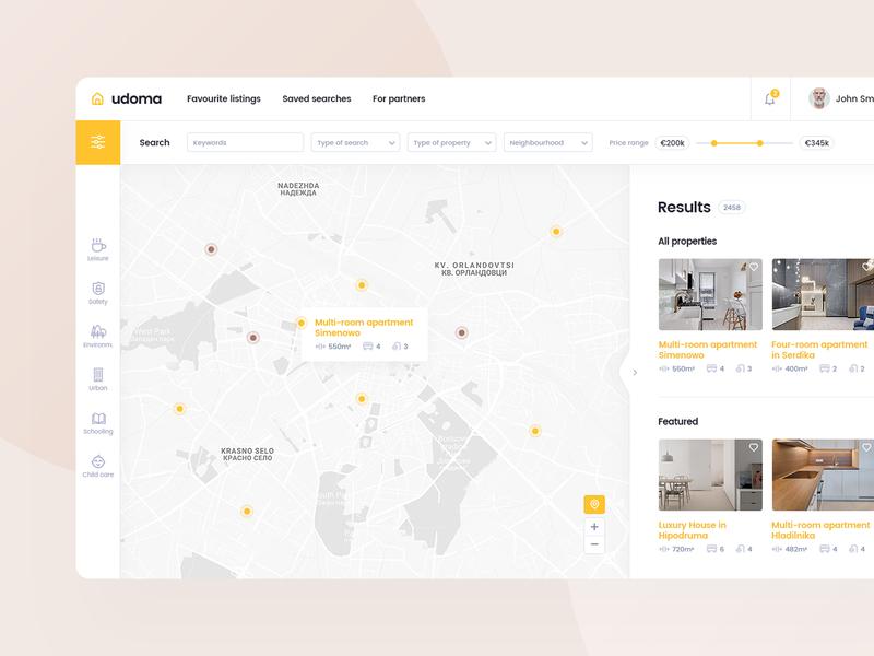 Real Estate Platform clean app development developer sell buy house rent home platform estate real design product layout website web ui ux