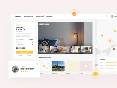 Individual Property Page platform estate real sell buy developer home house property page details desktop layout app design web ui ux