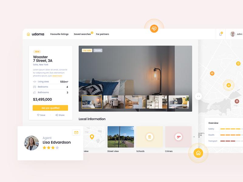 Individual Property Page platform estate real sell buy developer home house property page details desktop layout app design web ui ux