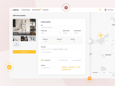 Real Estate clean brown yellow sell buy home house property estate real website layout design web app desktop ui ux visux