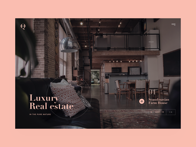 Luxury Real Estate nature clean scandinavia eco luxury estate real house homepage home layout website design web page landing ui ux visux