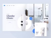 Be Clean light blue clean app restroom bathroom toilet store shop ecommerce page landing website web visux ui ux