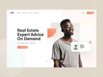 AoP green orange brown advisor expert house estate real responsive desktop layout ui ux page landing webdesign design web subtl visux