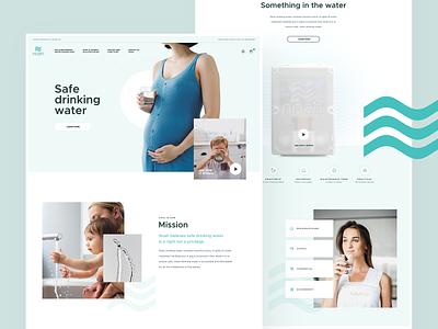 Noah desktop responsive white green clean pure filter water page landing interface layout webdesign design web ui ux visux subtl