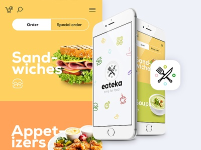 Food delivery lluck jackiewicz ui ux app mobile delivery food